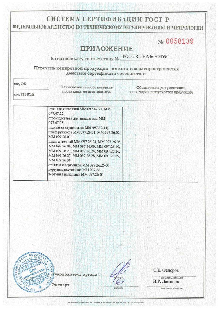 Система сертификации ГОСТ Р приложение