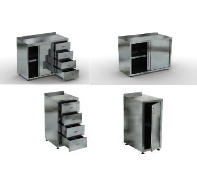 Столы-тумбы с ящиками и дверками